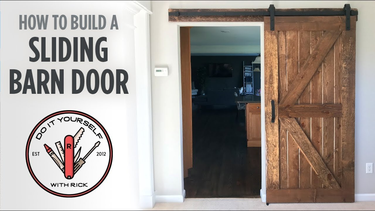 DIY Sliding Barn Door & DIY Sliding Barn Door - YouTube