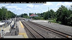 La Plata, Missouri, USA | Virtual Railfan LIVE