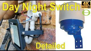 How to install a day night switch for a flood light.