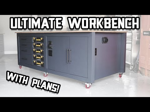 The Ultimate Shop Workbench Upgraded + Plans!