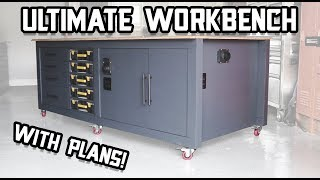 The Ultimate Shop Workbench - with Plans! // Shop Organization