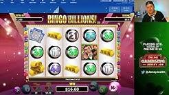 Bingo Billions slot machine w/ 30 Free Spins BONUS LIVE [Online Gambling with Jersey Joe # 25]