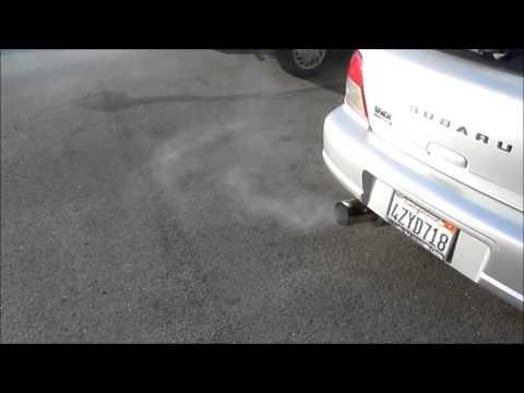 Lots of Seafoam Smoke - Subaru WRX