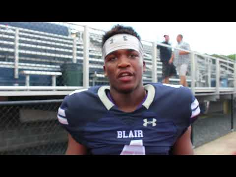 Tahshawn Brinson Post Game Interview 9-17-17 Blair - Silk City Sports Rap