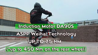 Asynchronous motor DA90S-W2  on RUSH3 electric motorcycle