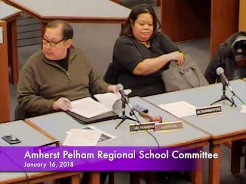 Amherst-Pelham Regional School Committee 1-16-18