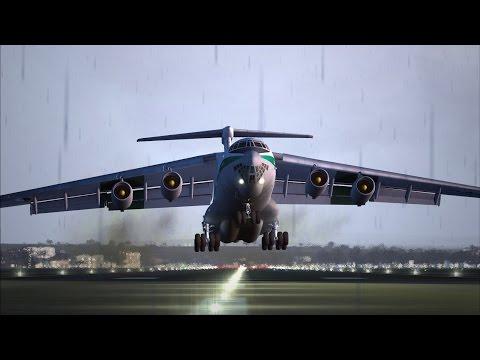 Prestwick (PIK) departure Algeria Air Force IL-76TD
