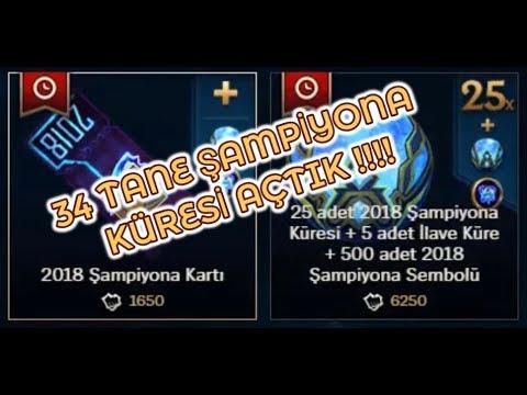 LOL'DE 7900 RP'ye 34 Tane 2018 ŞAMPİYONA KÜRESİ AÇTIK TURUNCU ÖZ YAĞDI!!!!!!