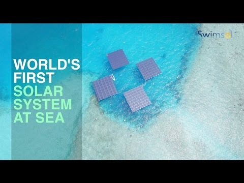 Solar panels at sea - unlimited energy without using land. SolarSea by Swimsol