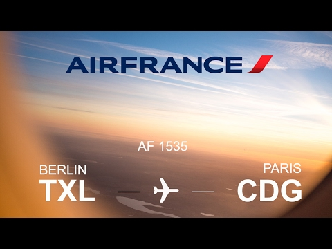 Air France flight AF 1535 from Berlin-Tegel (TXL) to Paris-Charles de Gaulle (CDG) with Airbus 320