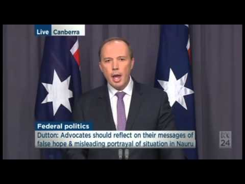 After 2nd refugee self-immolation on Nauru, Peter Dutton blames refugee advocates