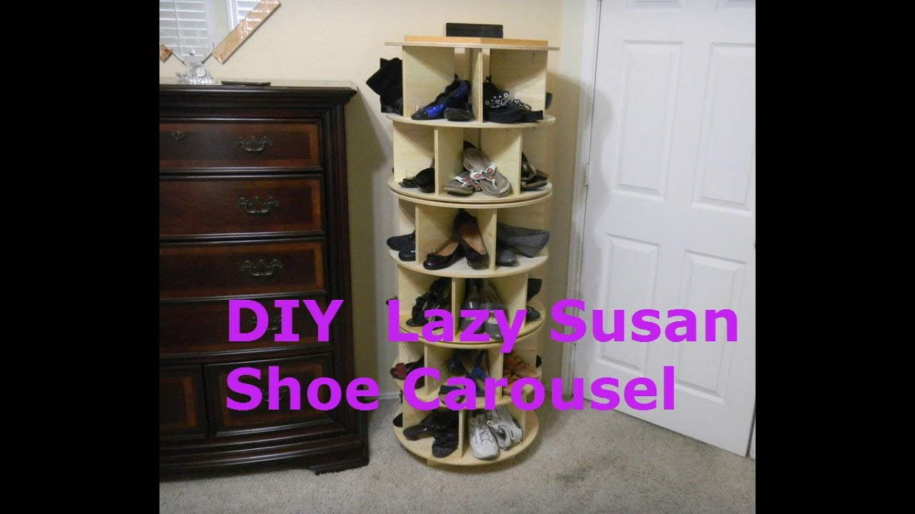How To Make a Lazy Susan Shoe Carousel