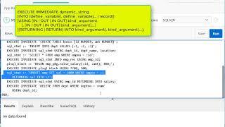 Урок 18. PL SQL. Динамический sql