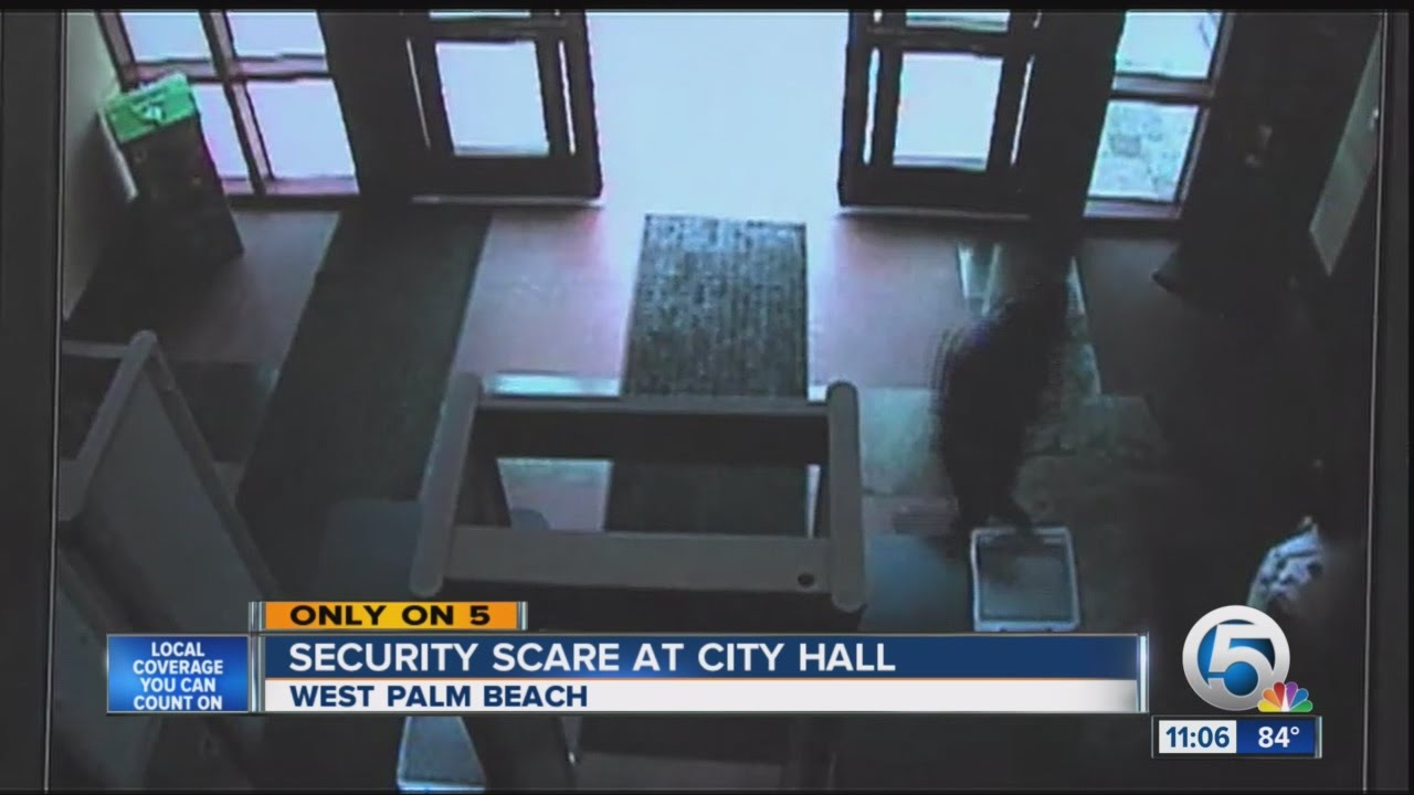 Caught On Video Former Employee Dodges Security Storms West Palm Beach City Hall