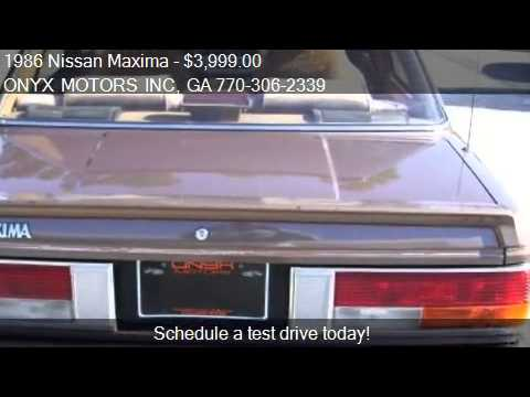 1986 Nissan Maxima Sedan for sale in FAIRBURN, GA 30213 at O