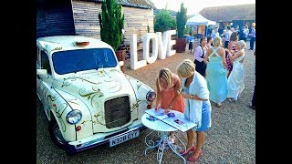 Vintage White Taxi Photo Booth - Coco Photo Booths