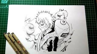 Cara Menggambar Gaara @ Draw Gaara - Naruto Shippūden