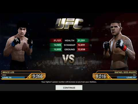 EA Sports UFC Game Bruce Lee vs Rafael Dos Anjos Android Gameplay