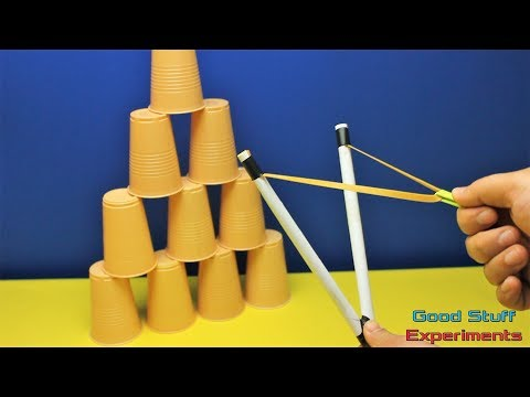 How to Make a Simple Paper Slingshot - Strong and Powerful