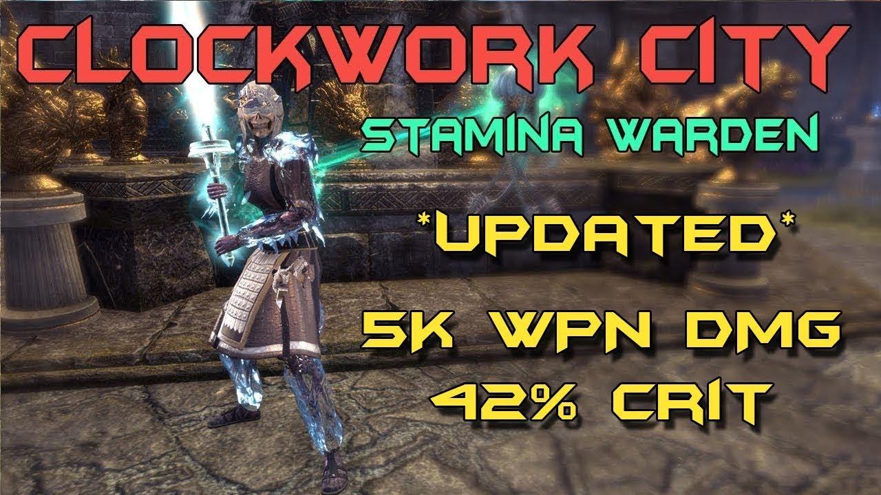 Stamina Warden Solo PvP Build - Elder Scrolls Online: Clockwork City
