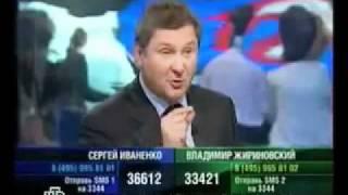 Нападение на Жириновского в прямом эфире НТВ.flv