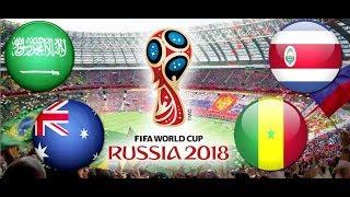TURNIEJ PANINI FIFA WORLD CUP RUSSIA 2018 ARABIA SAUDYJSKA - AUSTRALIA , KOSTARYKA - SENEGAL