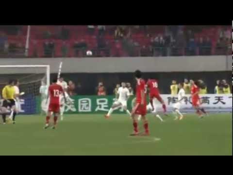 Zheng Zhi Volley Goal   China vs New Zealand 1 0   郑职截击目标   中国vs新西兰1 0