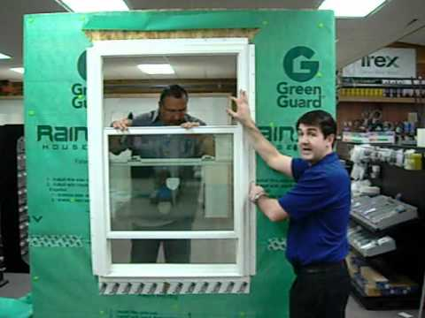 How to install a vinyl window youtube for Installing vinyl windows