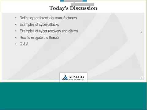 Manufacturer Cyber Risks from the Internet of Things