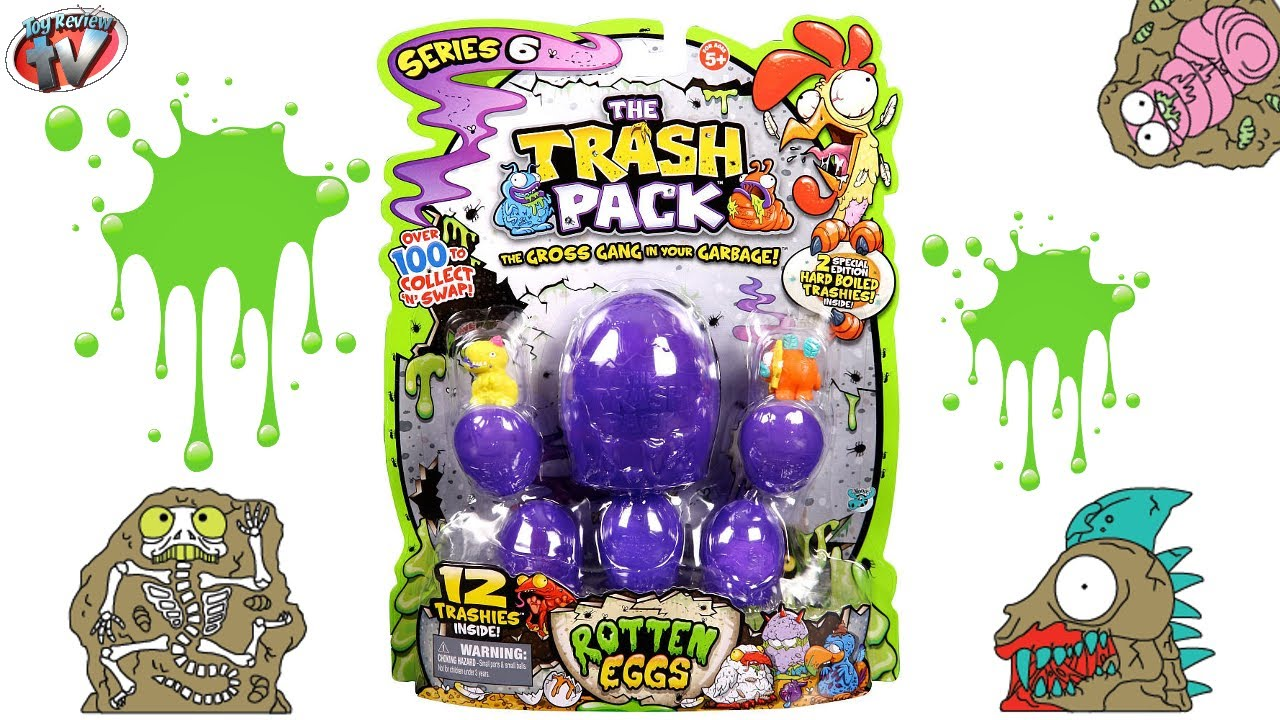 trash pack series 6 rotten eggs 12 pack toy review. Black Bedroom Furniture Sets. Home Design Ideas