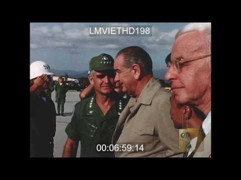 PRESIDENT JOHNSON VISITS CAM RANH BAY AB - VIETNAM WAR