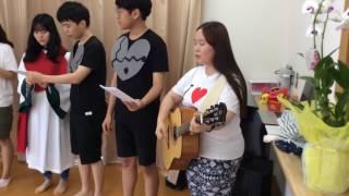 戸倉復興住宅    仙台愛の教会・韓国DongChun教会の皆さん(2)