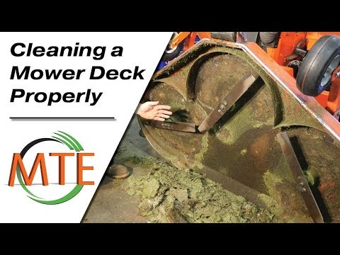 Properly Cleaning The Deck On Your Mower
