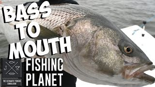 Bass To Mouth: Trophy Striped Bass Hunting - Fishing Planet Gameplay w/leeroy