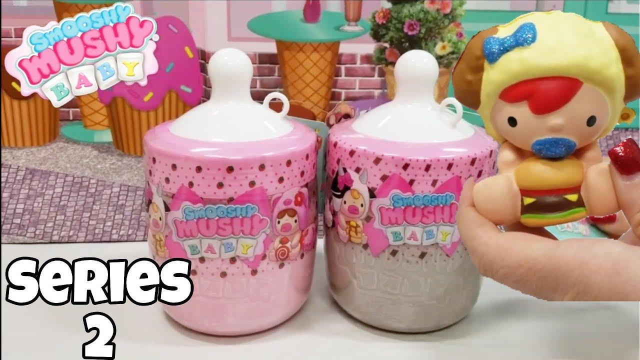 Smooshy Mushy Baby Series 2 Strawberry And Chocolate Milk Bottles