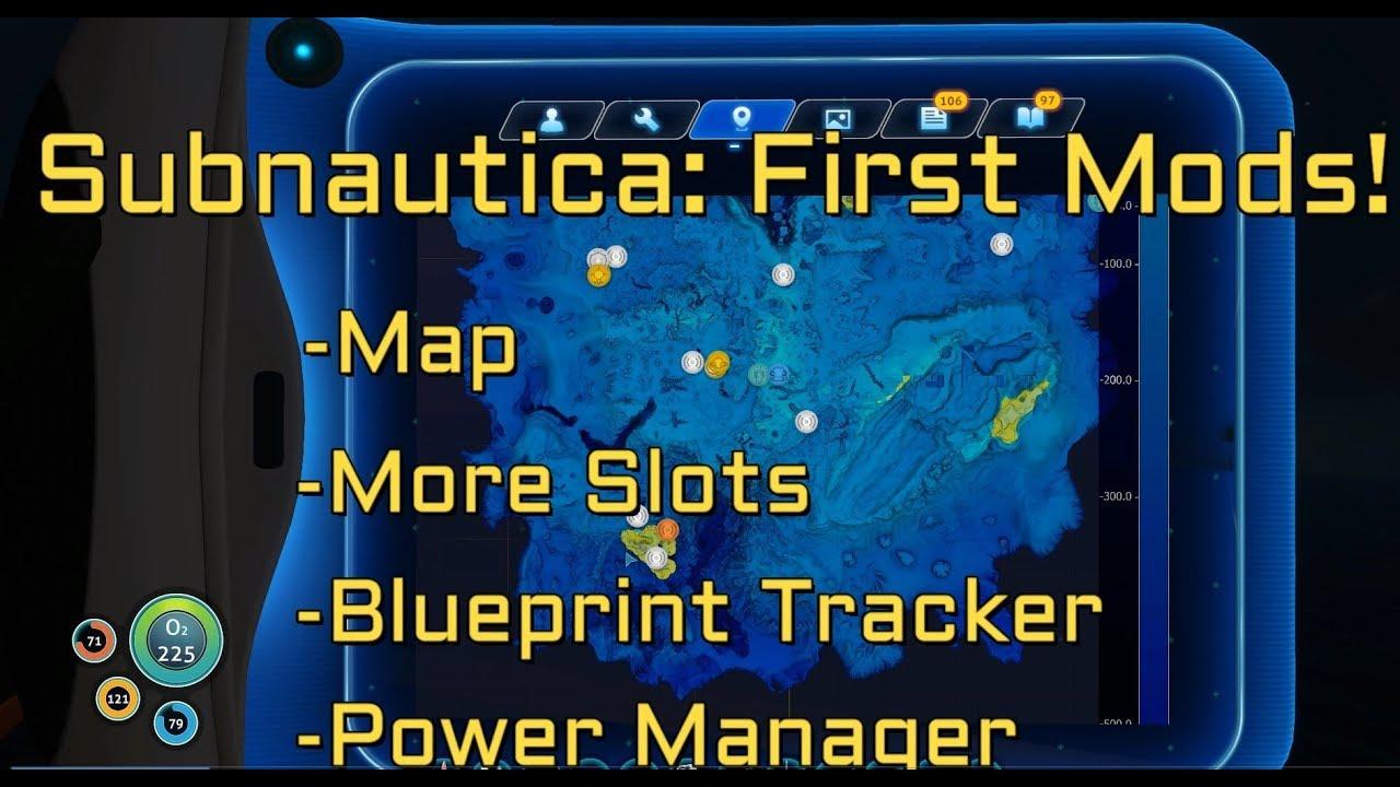 Subnautica Mods Map More Quickslots Blueprint Tracker Power