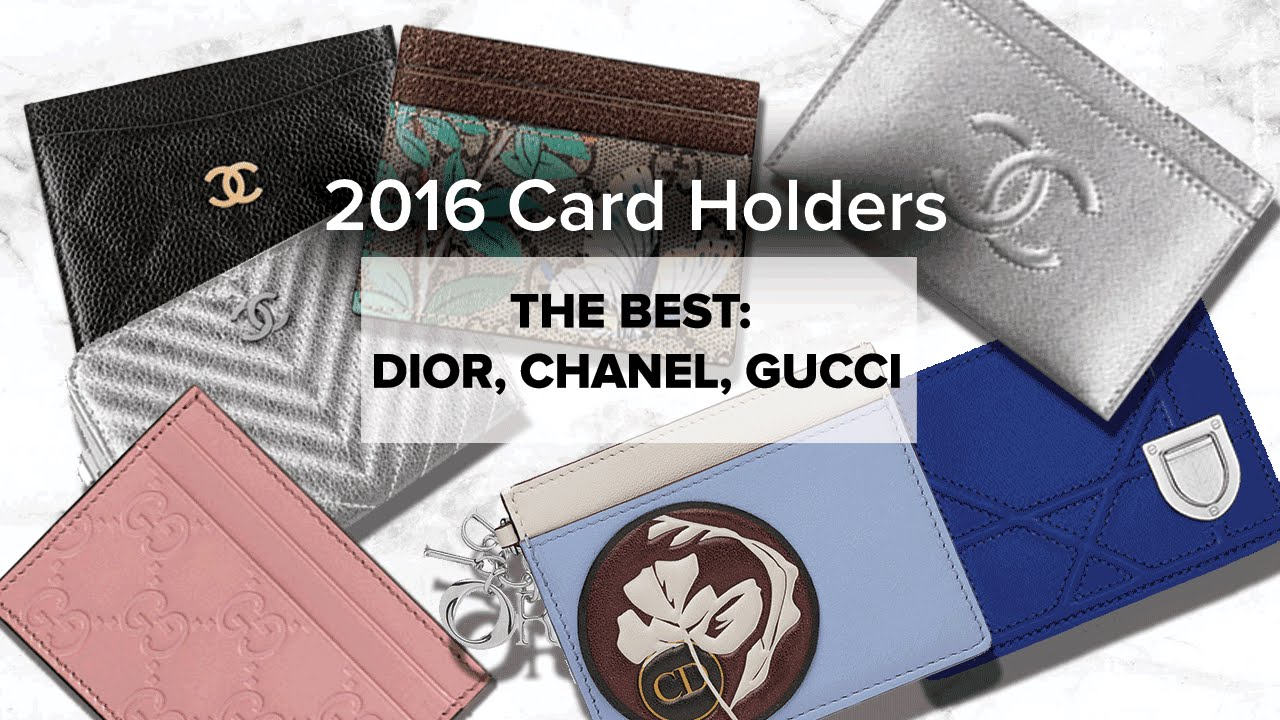 The Best LUXE Card Holders | CHANEL, GUCCI, DIOR - YouTube