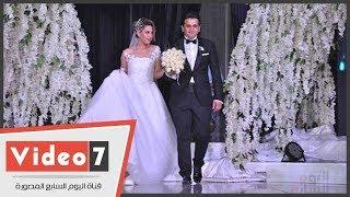 محمد إمام وكريم عبد العزيز وأحمد رزق وزاهر والسبكى فى حفل زفاف مصطفى خاطر