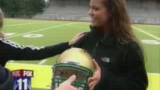 Cheerleader Tackled