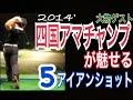 ゴルフ2014'四国アマチャンプ5番アイアンショット【ゲストJunya君】WGSLレッスンgol…