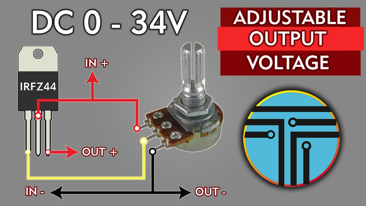 Adjustable Voltage power supply 40 V - 20A High Power and current LM317 & IRFZ44 N
