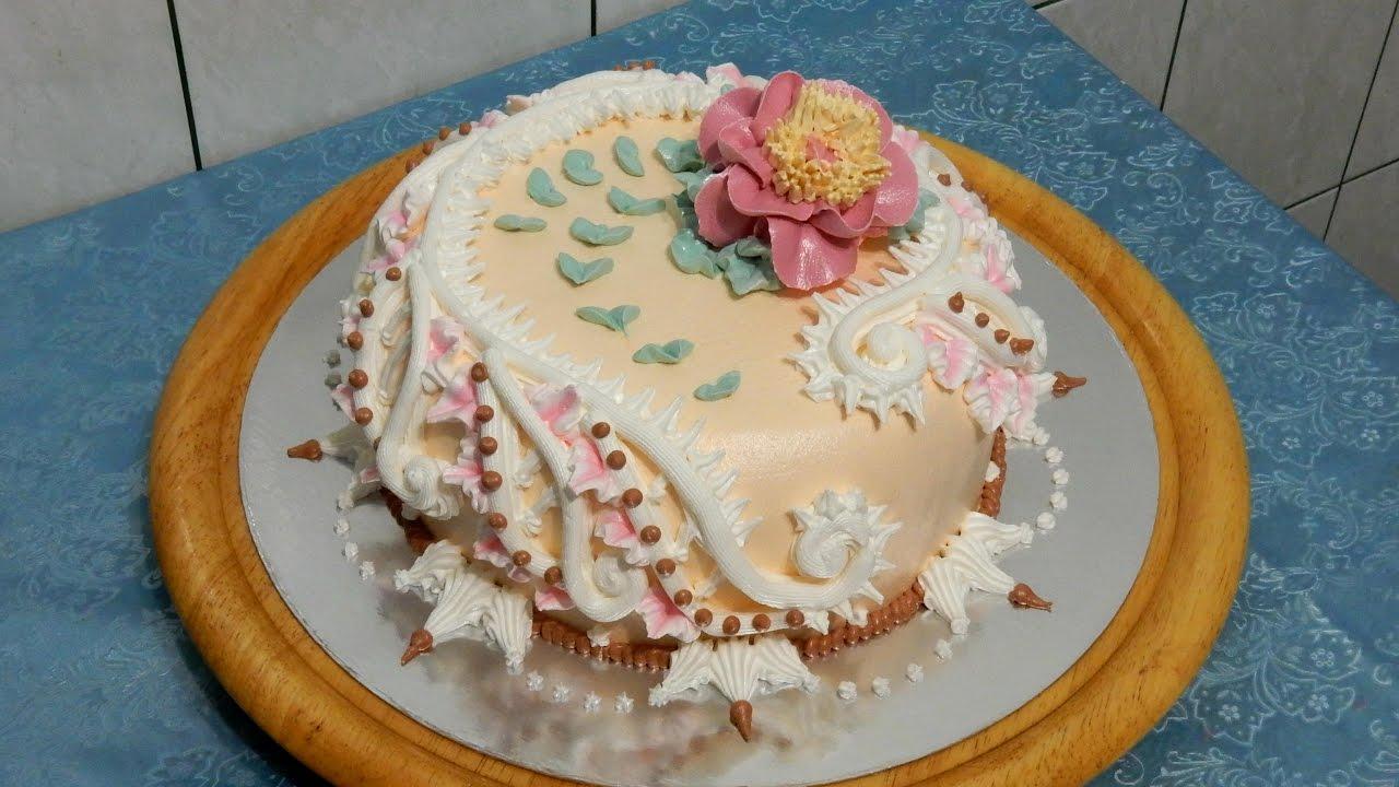 УКРАШЕНИЕ ТОРТОВ КРЕМОМ торт Quot Джессика Quot от Sweet Beauty