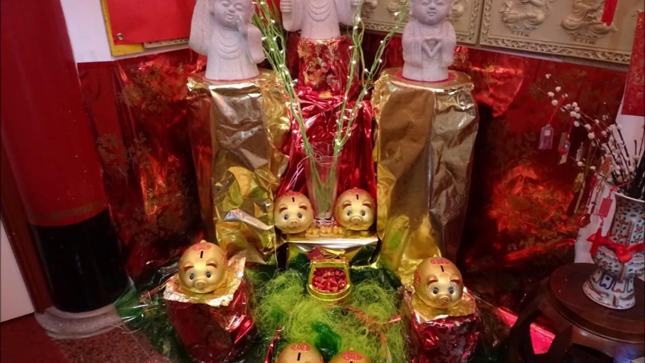 Sanadome Nieuwjaar.Chinees Nieuwjaar Jaar Van Het Varken He Hua Temple Zeedijk Amsterdam