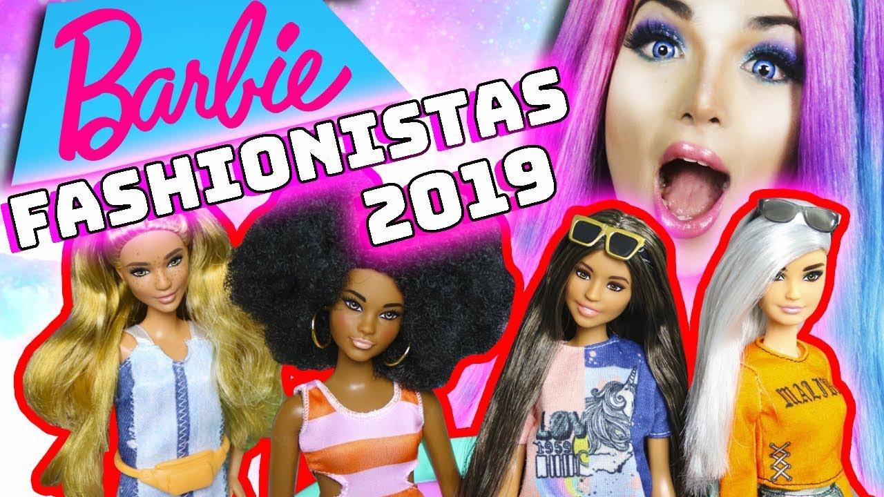 AS BARBIES MAIS INCLUSIVAS! Barbies Fashionistas 2019