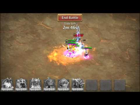 Castle Clash Hero Trials Druid And Snowzilla Guild Boss Fight
