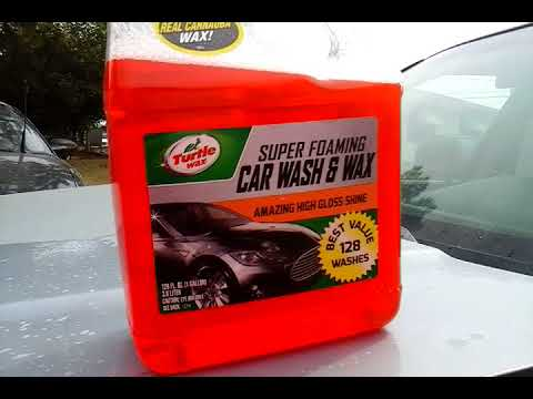 turtle wax new super foaming car wash wax test review. Black Bedroom Furniture Sets. Home Design Ideas