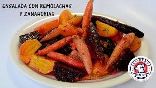 Deliciosa Ensalada de betabel o remolachas y zanahorias