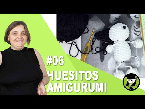 Esqueleto para HALLOWEEN AMIGURUMI 06 empezamos la capa tejida a crochet