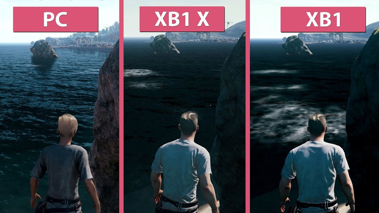K Pubg Pc Ultra Vs Xbox One X Vs Xbox One Frame Rate Test Graphics Comparison