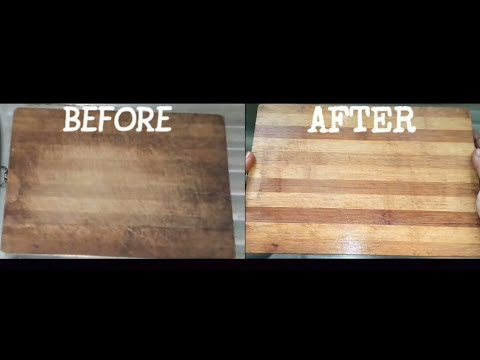 How to clean wooden chopping board easily?